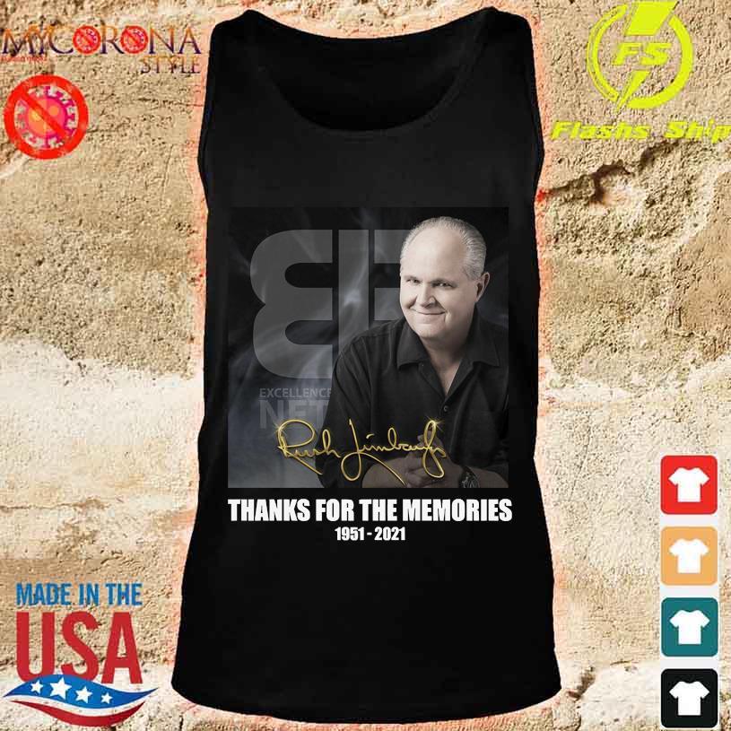 Rush Limbaugh thank for the memories 1951 2021 signature s tank top