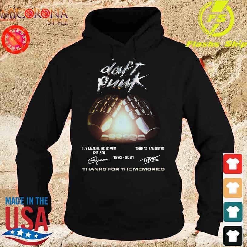 Daft Punk Guy Manuel De Homem Christo Thomas Bangelter 1993 2021 signatures s hoodie