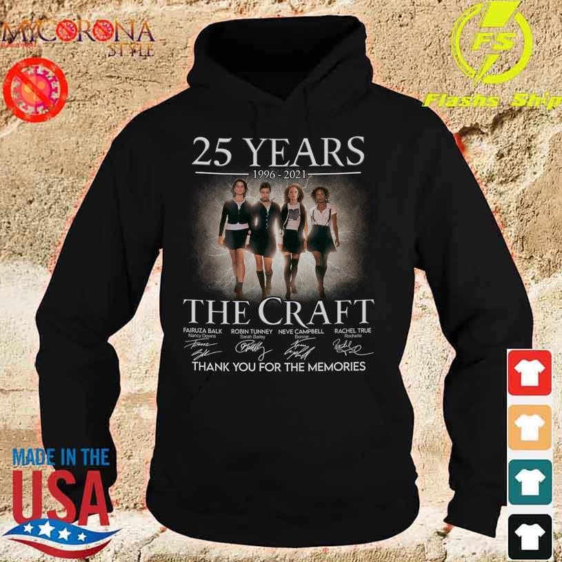 25 Years 1996 2021 The Craft thank You for the memories signatures s hoodie