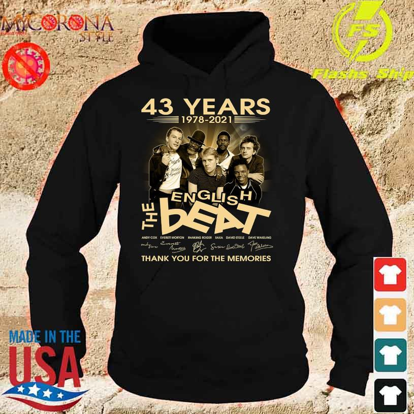 43 Years 1978 2020 The English Beat thank You for the memories signatures s hoodie