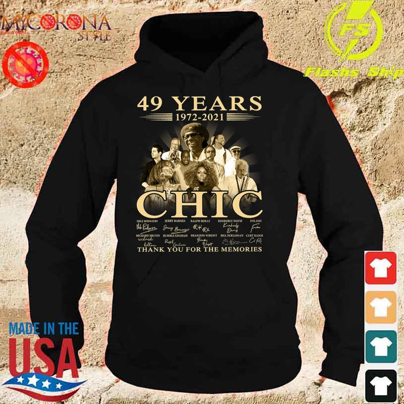 49 Years 1972 2021 Chic thank You for the memories signatures s hoodie