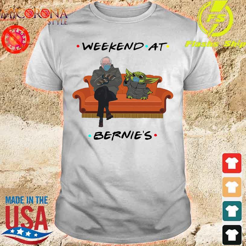 Bernie Sanders and Star wars Baby Yoda Weekend at Bernie's shirt