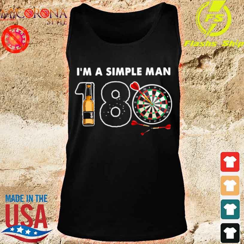 I'm A Simple Man I Like 180 Beer Game Shirt tank top