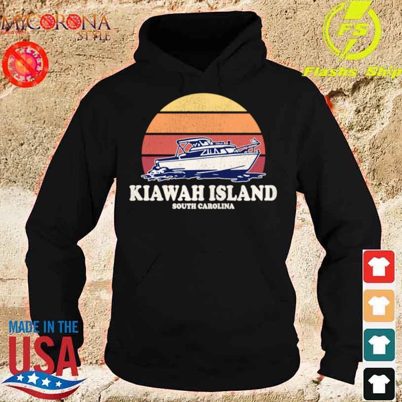 Kiawah Island Sc Vintage Boating 70s Retro Boat Design Shirt hoodie