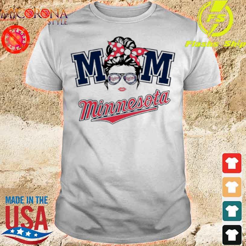 Mom Skull Minnesota Twins Baseball Shirt