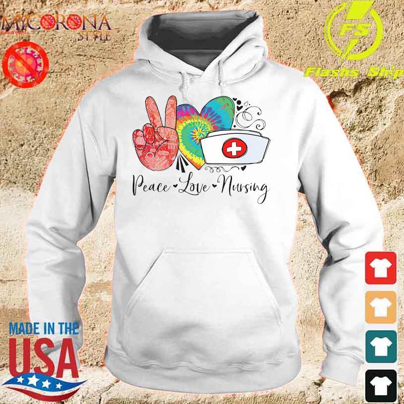 Official Peace love Nursing s hoodie